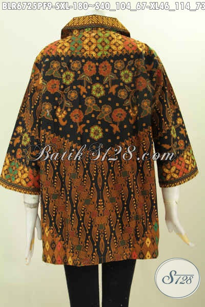 Juragan Baju Batik Online, Sedia Balero Batik Elegan Dan Mewah Motif Klasik Printing Daleman Pakai Furing Hanya 180K [BLR6725PF-S]