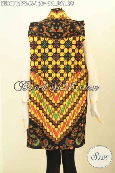 Model Outer Batik Panjang Wanita Masa Kini Untuk Tampil Gaya Dan Modis, Busana Batik Gaul Cocok Buat Ke Pesta Dan Jalan-Jalan [BLR8116P-M]
