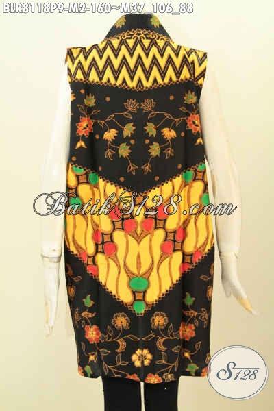 Produk Outer Batik Untuk Wanita, Balero Batik Panjang Tanpa Lengan Bahan Halus Motif Klasik Printing, Penampilan Makn Bergaya [BLR8118P-M]