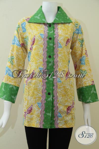 Baju BAtik Model Terkini Dan Motif Batik Yang Banyak Disukai [BLS1085P-M]