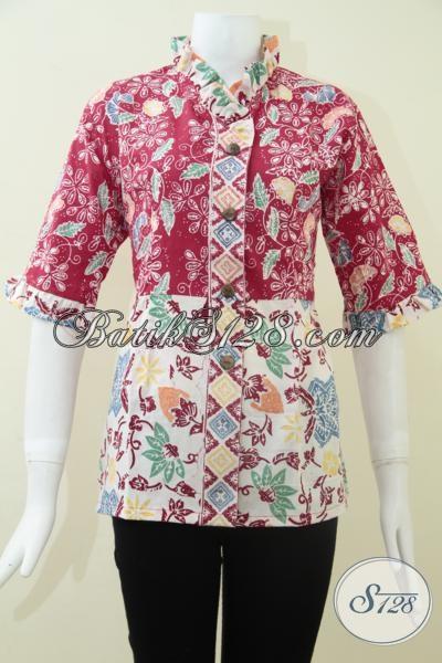 Busana BAtik Wanita Masa Kini,Pakaian Batik Wanita Kantor [BLS1117C-S]