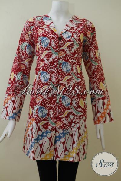 Batik Lengan Panjang Desain Formal Cocok Untuk Seragam ...