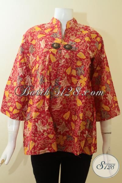 Busana Batik Wanita Cantik,Blus Batik Cantik Untuk Wanita Muda [BLS2779P-XL]