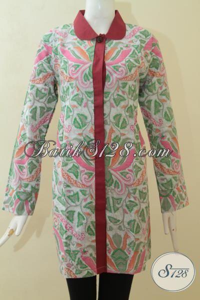 Blus Batik Modern Desain Berkelas, Baju Batik Pesta ...