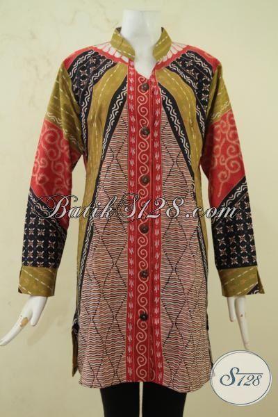 Baju Batik Klasik Lengan Panjang Seragam Kerja Pegawai ...