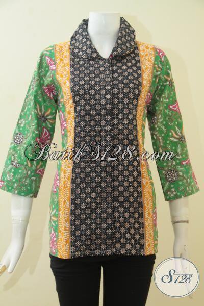 Pakaian Batik Wanita Model Terbaru, Baju Blus Batik ...