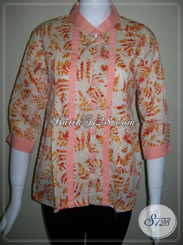 Toko Baju BAtik Pegawai Bank,Blus Model Terbaru Batik Karyawan [BLS409CS-M]