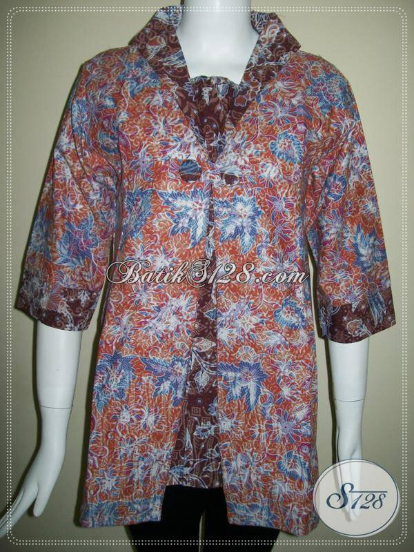 Batik Wanita Aktif,Baju Batik Wanita Karier Dan Wanita BAtik Trendy [BLS435P-L]