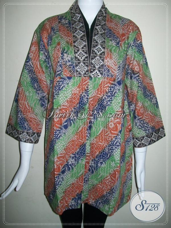 Busana Batik Wanita Seragam Kantor,Busana Batik Murah Dijual Online [BLS580CG-L]