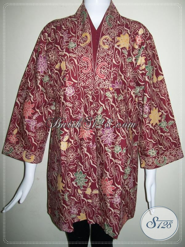 Baju BAtik Wanita Trendy,Modern Dan Motif BAtik Cap Asli Solo [BLS586CL-XL]