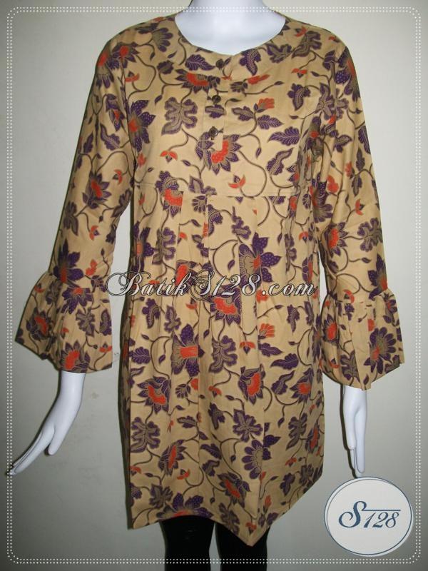 Blus Batik Masa Kini Untuk Wanita Hijabers [BLS587P-L]