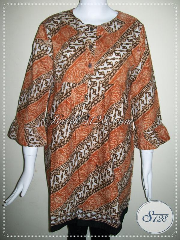 Toko Online Batik Trendy Asli Batik Solo,Baju Batik Wanita Modern [BLS590C-XL]