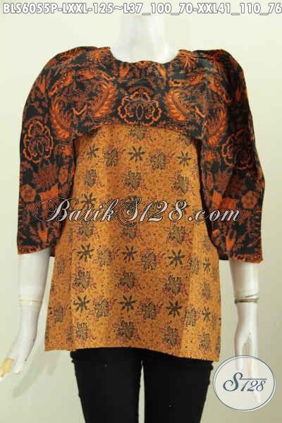 Produk Pakaian Batik Wanita Terkini, Hadir Dengan Desain Cantik Dan Modis Bahan Adem Motif Klasik Proses Printing, Cocok Untuk Seragam Kerja Dan Baju Pesta [BLS6055P-XXL]