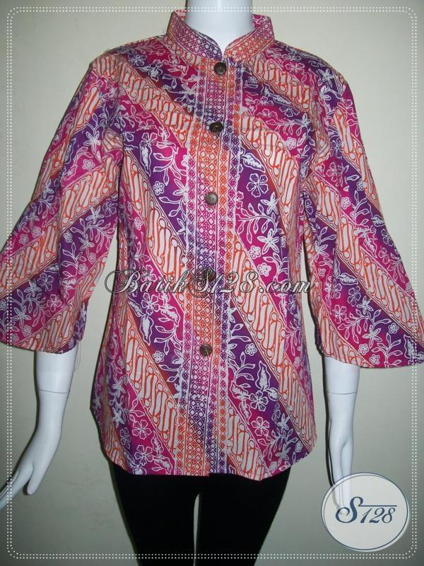 Baju Batik Cap Model Trendy,Batik Handmade Asli Solo [BLS606CG-S]