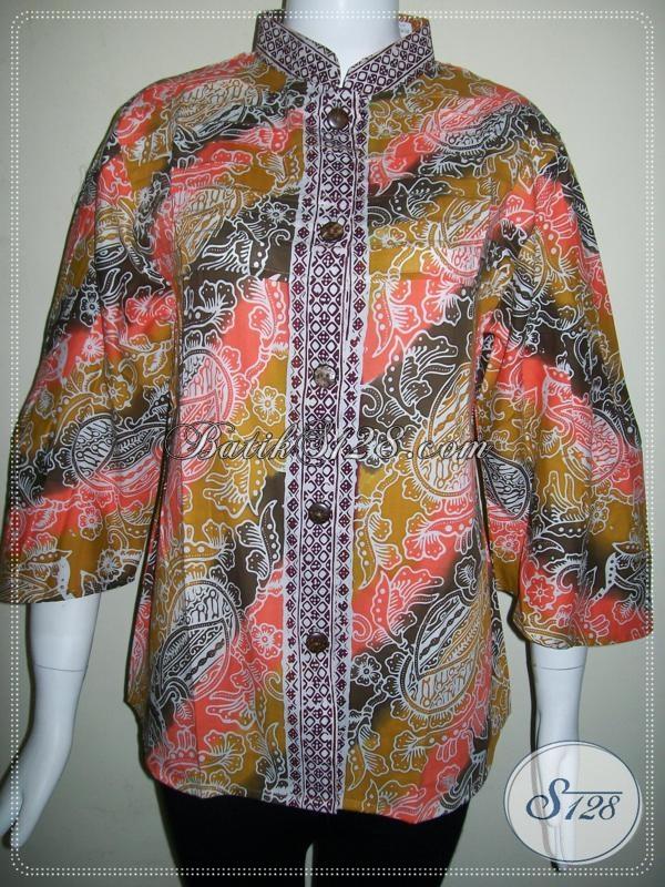 Butik Batik Online Murah Di Solo,Toko Aneka Model Baju Batik Wanita [BLS612CG-L]