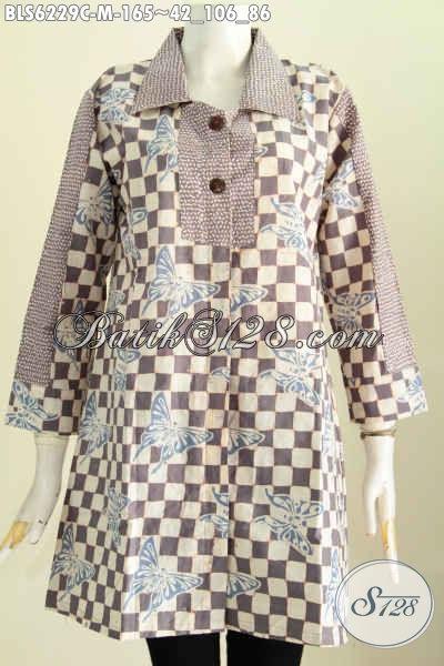 Jual Online Baju Blus Keren, Pakaian Batik Masa Kini Untuk Tampil Gaya, Blus Batik Istimewa Harga Terjangkau [BLS6229C-M]