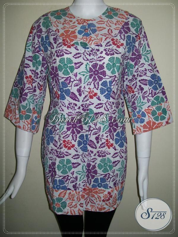 Busana Batik Wanita Modern Online Terbaru, Model Cantik [BLS636CB-M]