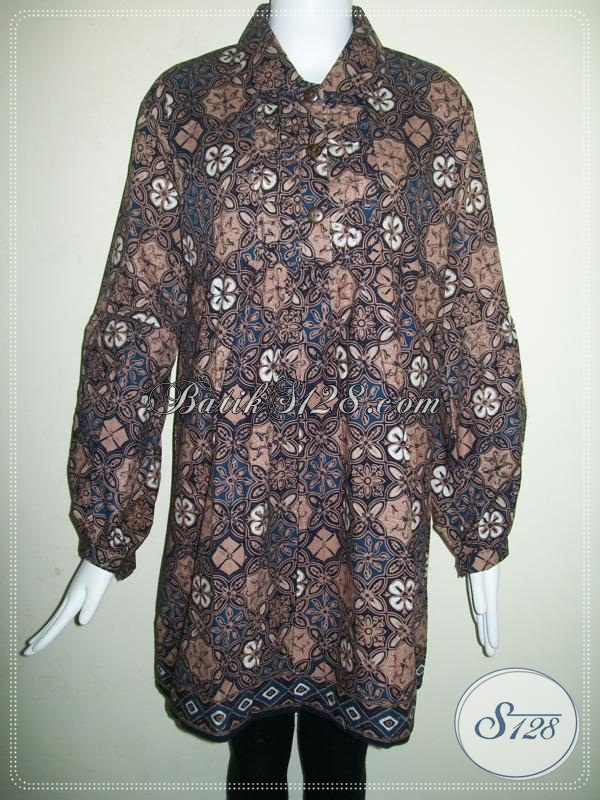 Baju Batik Cewek Jumbo Super Besar Big Size Ukuran XXL [BLS645CT-XXL]