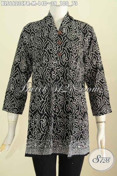 Toko Baju Batik Online Paling Lengkap Dan Up To Date, Sedia Koleksi Terkini Blus Bahan Paris Motif Berkelas Proses Cap Hanya 140K [BLS6623CPR-M]