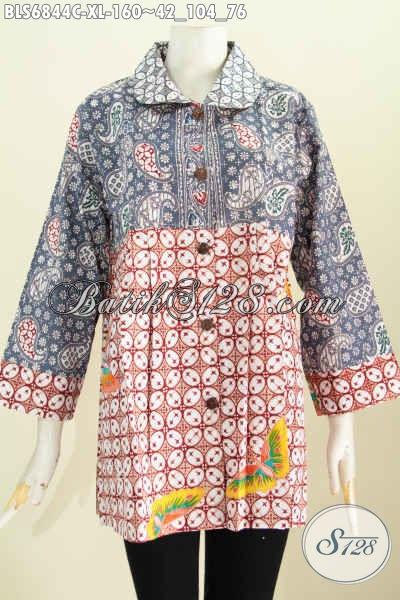 Baju Batik Wanita Modern Kombinasi - Baju Batik 2018 - Baju Batik 2018 83341f48df