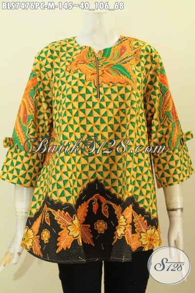 Busana Batik Elegan, Baju Batik Kerja Wanita Muda Untuk Penampilan Lebih Mempesona Hanya 145K [BLS7476PC-M]