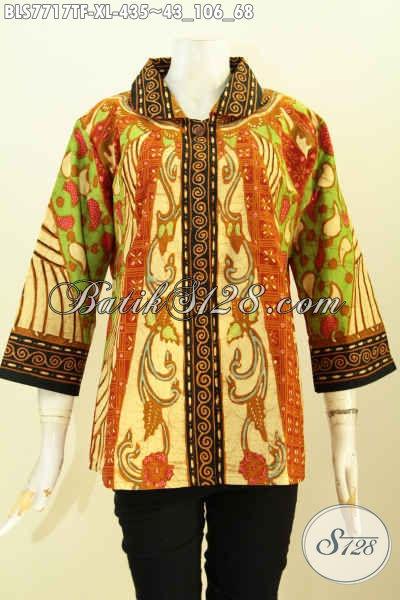 Model kemeja batik wanita modern motif sinaran