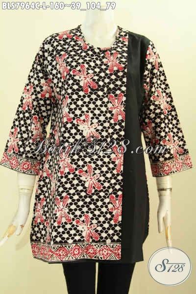 Baju batik kombinasi polos modern terbaru