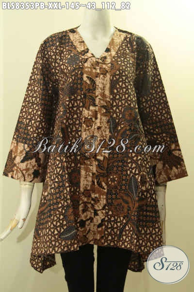 Model Baju Batik Solo Terbaik Untuk Wanita Gemuk Tampil Berkelas Blus Batik Kartini Kancing Depan Asli Buatan N Solo Harga Terjangkau Bls8353pb Xxl Toko Batik Online 2020