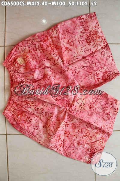 Koleksi Terbaru Butik Batik Online, Celana Batik Modern Motif Keren Bahan Adem Proses Cap Smoke Pas Banget Untuk Santai [CD6500CS-M , L]