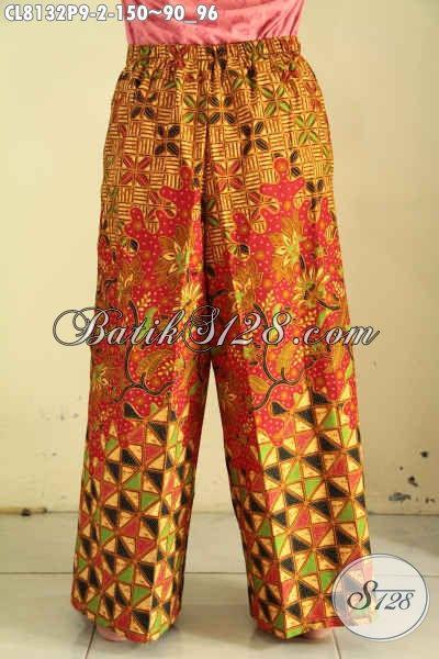 Model Celana Kulot Batik Buatan Solo, Fashion Batik Bawahan Untuk Wanita Tampil Trendy Dan Simple Harga 150K [CL8132P-All Size]