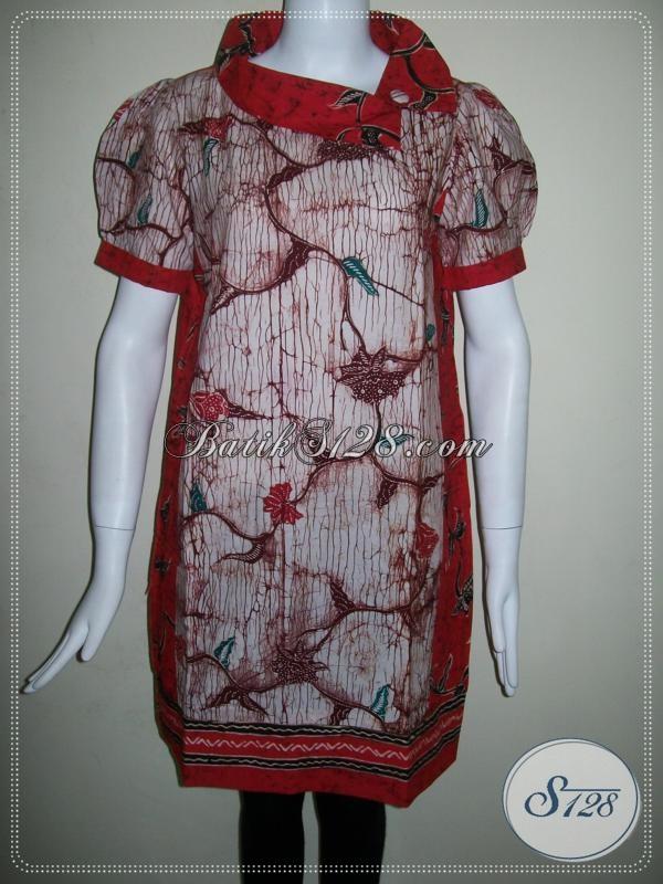 Dress Trendy Untuk Wanita Elegan,Dress Batik Tulis Motif Madura [DR008T-M]