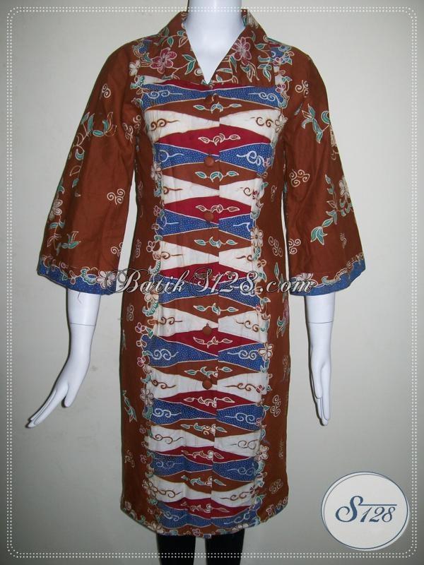 Baju Dress BAtik Tulis Asli Solo,Batik Tulis Elegan,Batik Tulis Penggemar Para Pejabat [DR014T-M]
