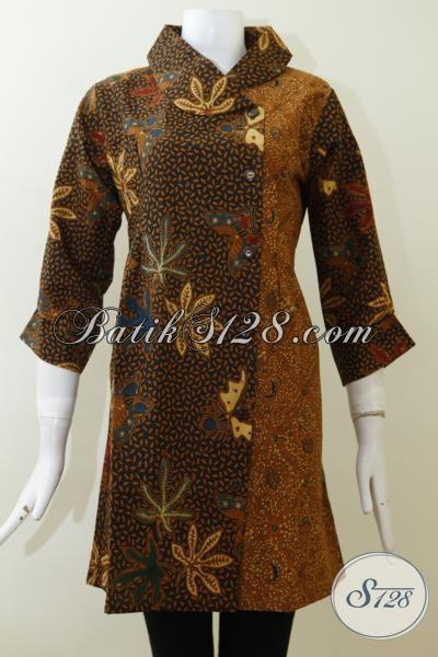 Baju Batik Klasik Untuk Wanita Dewasa Dengan Desain Dress ...