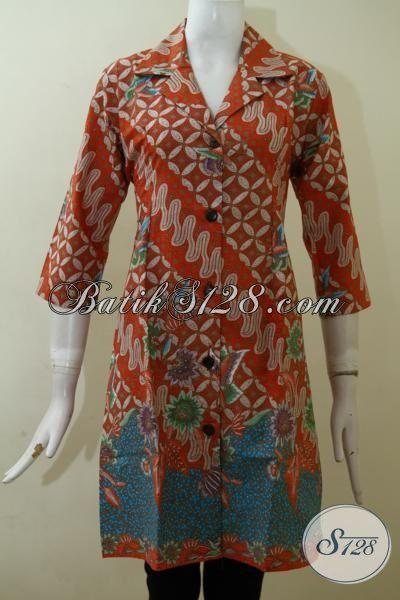Jual Pakaian Batik Wanita Model Dress, Busana Batik Modern Desain Formal Nan Mewah Dan Berkelas Harga Terjangkau [DR2512P-S]