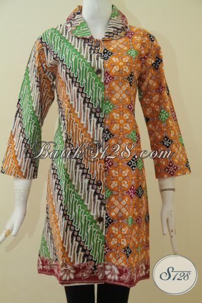 Dress Batik Parang Modern Desain Premium Kwalitas Halus ...