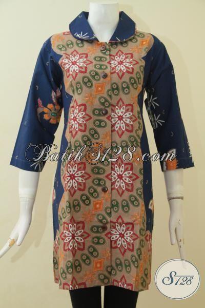 Agen Aneka Busana Batik Jawa Terlengkap, Jual Online Dress Batik Kombinasi Dua MotifDesin Terbaru Yang Lebih Istimewa Dan Berkelas, Pas Buat Ke Pesta [DR3631CT-M]
