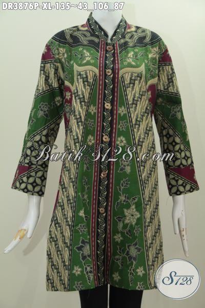 Pakaian Batik Motif Sinaran, Dress Batik Klasik Desain ...