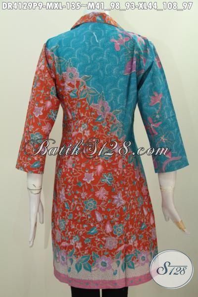 Busana Dress Batik Istimewa Desain Formal Buat Seragam ...