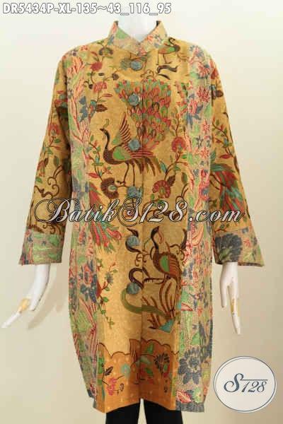 Dress Batik Halus Motif Burung Merak, Pakaian Batik Proses ...