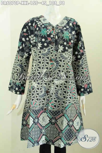 Dress Batik Jumbo Bahan Halus Kombinasi Tiga Motif Lawasan ...