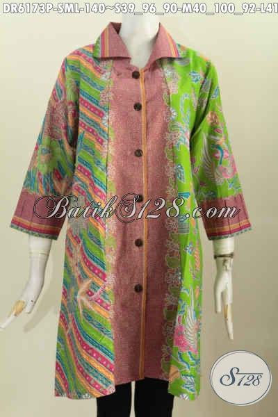 Sedia Baju Batik Keren Dan Modis, Pakaian Batik Istimewa Untuk Wanita Muda Dan Dewasa Harga 140K [DR6173P-M]