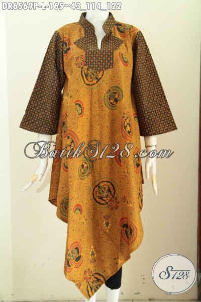 Baju Batik Solo Istimewa Motif Klasik Model Kerah Shanghai Kotak Desain Berkelas Proses Printing Hanya 165K [DR6569P-L]