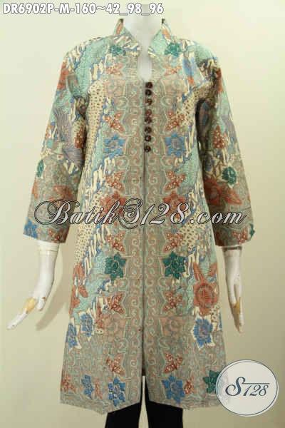 Foto Baju Batik Wanita Terkini, Desain Dress Batik ...