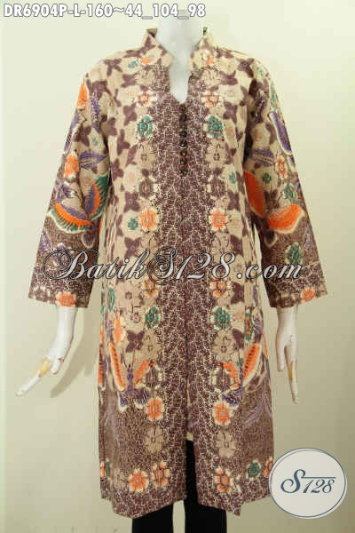 Foto Baju Batik Wanita Modern, Desain Dress Batik Solo ...