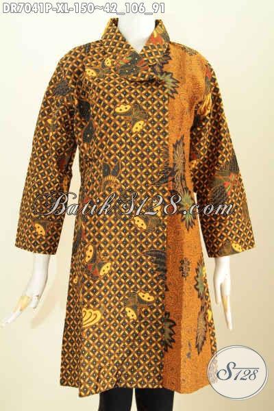 Dress batik kerja kantor elegan motif klasik