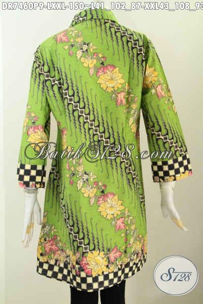 gambar dress batik tampak foto belakang