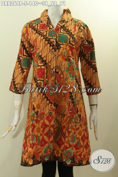Model Baju Batik Krah Langsung Motif Klasik Proses Printing, Pakaian Batik Murah Dengan Kwalitas Mewah Tren Mode 2020 [DR8264P-S]