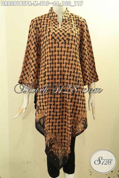 Model Baju Batik Cewek Produk Terbaru Cocok Buat Santai Dan Pesta, Hadir Dengan Desain Taplak Bahan Paris Motif Bagus Proses Kombinasi Tulis Harga 215K [DR8281BTPR-M]