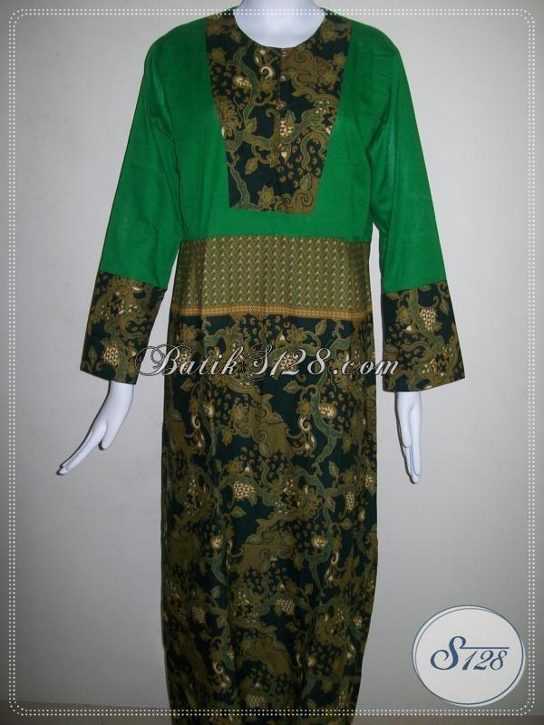 Baju Gamis Batik Wanita Hijabers [G002P-L]