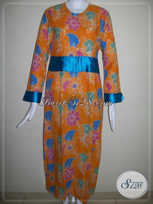 Abaya Batik Cap,Batik Gamis Asli Solo [G013C-S]